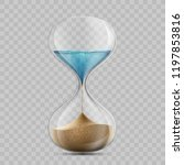 water in hourglass becomes a... | Shutterstock .eps vector #1197853816