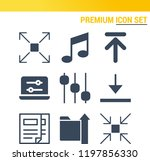 simple set of  9 filled icons... | Shutterstock .eps vector #1197856330