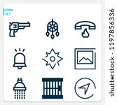simple set of  9 outline icons... | Shutterstock .eps vector #1197856336