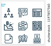 simple set of  9 outline icons... | Shutterstock .eps vector #1197857560