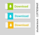 download text button | Shutterstock .eps vector #1197858469
