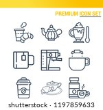 simple set of  9 outline icons... | Shutterstock .eps vector #1197859633