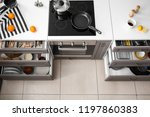 set of clean kitchenware in...   Shutterstock . vector #1197860383