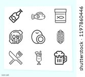 simple set of 9 icons related... | Shutterstock .eps vector #1197860446