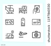 simple set of 9 icons related... | Shutterstock .eps vector #1197860530