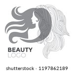 illustration of woman with... | Shutterstock .eps vector #1197862189