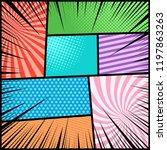 comic book light background... | Shutterstock .eps vector #1197863263