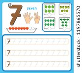 number cards  counting and... | Shutterstock .eps vector #1197865570