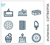 simple set of  9 outline icons... | Shutterstock .eps vector #1197865936