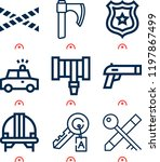 simple set of  9 outline icons... | Shutterstock .eps vector #1197867499