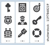 simple set of  9 filled icons... | Shutterstock .eps vector #1197868219