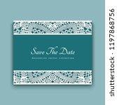 wedding invitation card...   Shutterstock .eps vector #1197868756