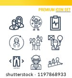 simple set of  9 outline icons... | Shutterstock .eps vector #1197868933