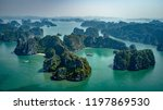 cruising around bai tu long bay ... | Shutterstock . vector #1197869530