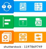 simple set of  9 filled icons... | Shutterstock .eps vector #1197869749