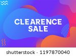 clearance sale with abstract...