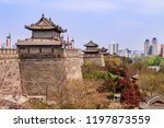 listed historical city wall of...