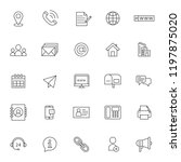 set of icon related of contact...