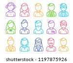 vector illustration of set of... | Shutterstock .eps vector #1197875926