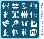 people related set of 16 icons...   Shutterstock .eps vector #1197878116