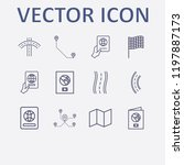 outline 12 country icon set.... | Shutterstock .eps vector #1197887173