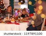 happy family having christmas... | Shutterstock . vector #1197891100