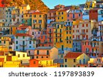 colorful house  buildings and... | Shutterstock . vector #1197893839