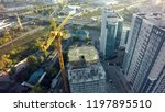 aerial view of the construction ... | Shutterstock . vector #1197895510
