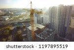 aerial view of the construction ... | Shutterstock . vector #1197895519