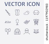 outline 12 grey icon set. cat ... | Shutterstock .eps vector #1197902983