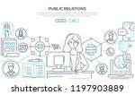 public relations   line design... | Shutterstock .eps vector #1197903889