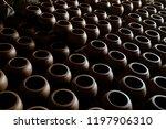 handmade pottery and jugs... | Shutterstock . vector #1197906310