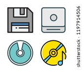cd icon set. vector set about...   Shutterstock .eps vector #1197914506