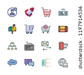 marketing icon set. vector set... | Shutterstock .eps vector #1197914536