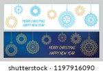 christmas decorative elements....   Shutterstock .eps vector #1197916090