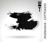 black brush stroke and texture. ... | Shutterstock .eps vector #1197916243