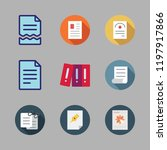 bureaucracy icon set. vector... | Shutterstock .eps vector #1197917866