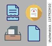 bureaucracy icon set. vector... | Shutterstock .eps vector #1197923410