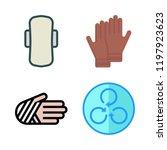 exercise icon set. vector set... | Shutterstock .eps vector #1197923623