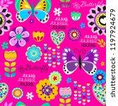 vector seamless cute pattern... | Shutterstock .eps vector #1197924679