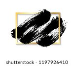 black vector brush stroke with... | Shutterstock .eps vector #1197926410