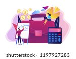 briefcase  calculator and... | Shutterstock .eps vector #1197927283