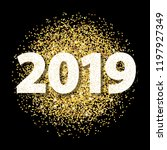 new year card for 2019 with...   Shutterstock .eps vector #1197927349