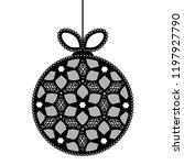 decorative lace christmas ball... | Shutterstock .eps vector #1197927790