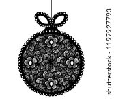 decorative lace christmas ball... | Shutterstock .eps vector #1197927793