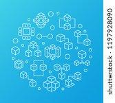 blockchain technology vector...   Shutterstock .eps vector #1197928090