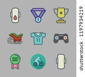 competition icon set. vector... | Shutterstock .eps vector #1197934219