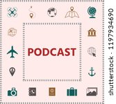 podcast   icon for web and... | Shutterstock .eps vector #1197934690