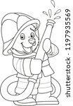 coloring page outline of... | Shutterstock .eps vector #1197935569