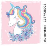 white unicorn vector... | Shutterstock .eps vector #1197938026
